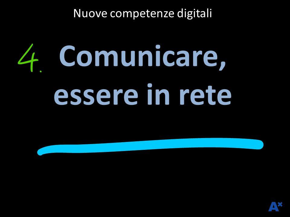 Nuove competenze digitali Comunicare, essere in rete