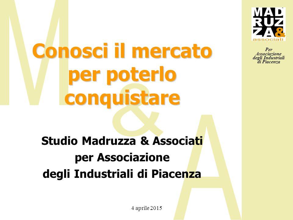 Per Associazione degli Industriali di Piacenza 4 aprile 2015 Conosci il mercato per poterlo conquistare Studio Madruzza & Associati per Associazione d