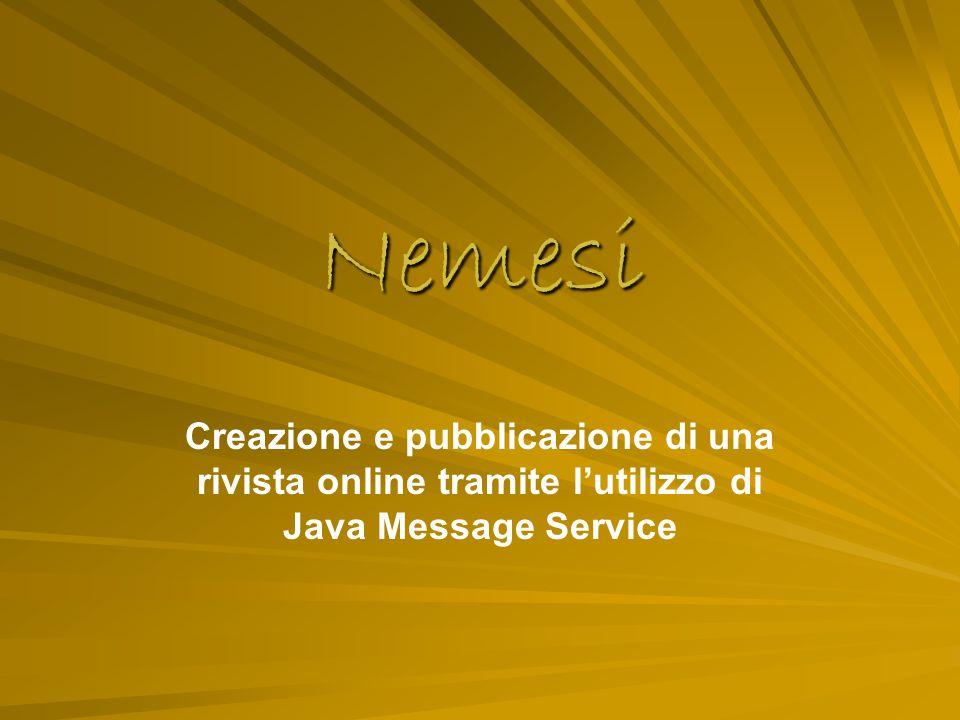 2 Introduzione Il progetto Nemesi nasce dal desiderio di creare un sistema che permettesse la creazione, la pubblicazione e la lettura di una rivista attraverso l'utilizzo della rete.