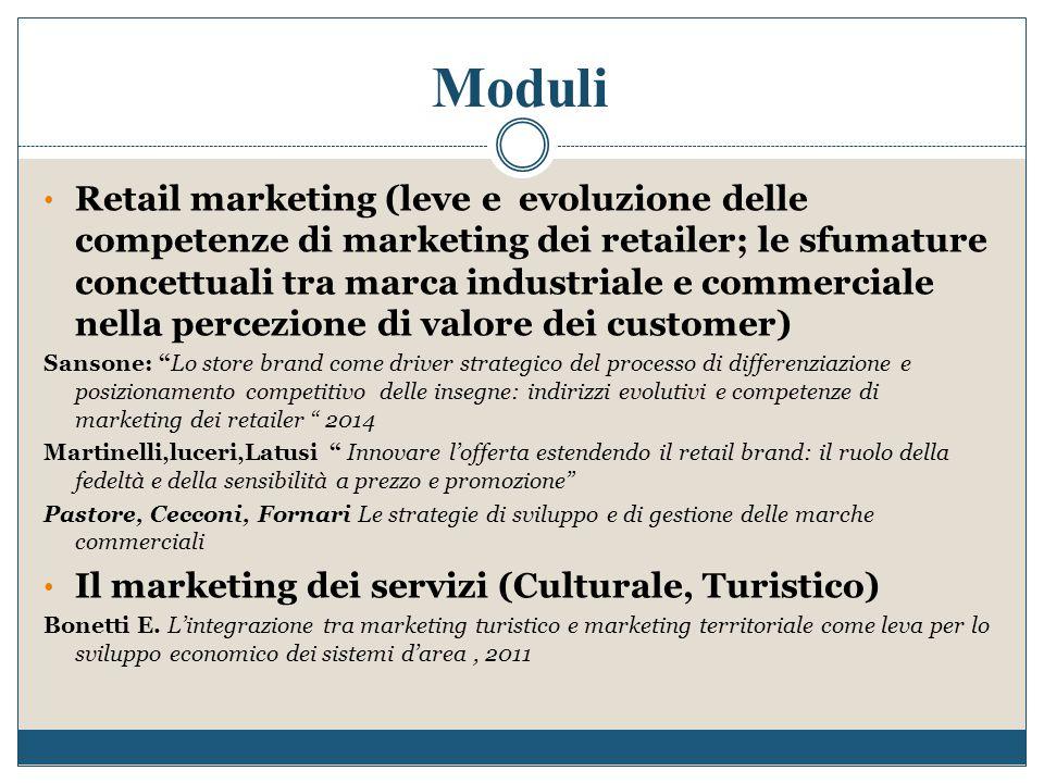 Retail marketing (leve e evoluzione delle competenze di marketing dei retailer; le sfumature concettuali tra marca industriale e commerciale nella per
