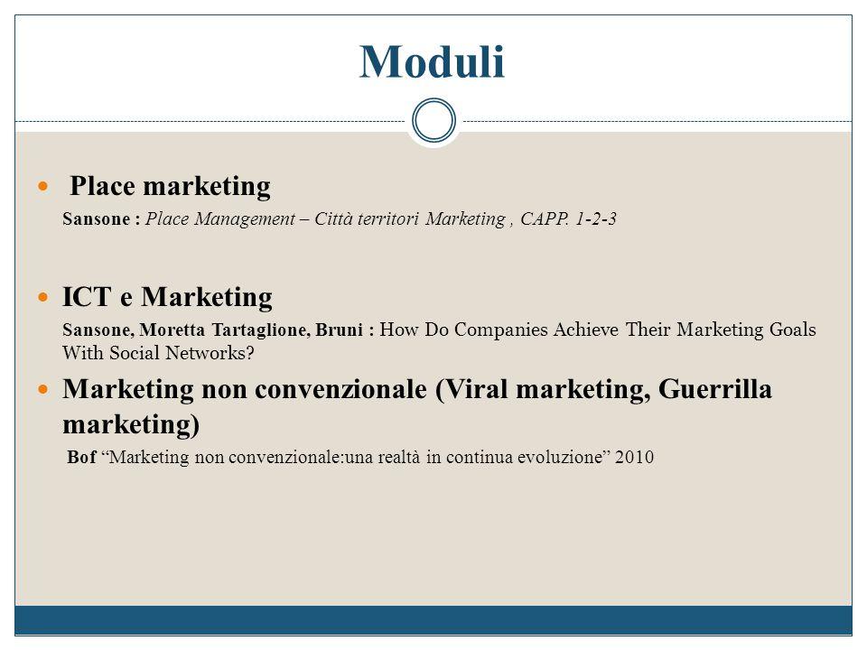 Place marketing Sansone : Place Management – Città territori Marketing, CAPP. 1-2-3 ICT e Marketing Sansone, Moretta Tartaglione, Bruni : How Do Compa