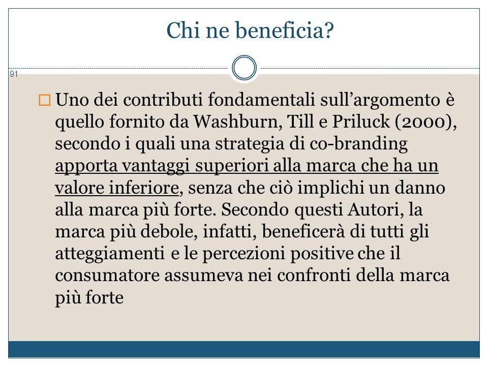 Chi ne beneficia? 91  Uno dei contributi fondamentali sull'argomento è quello fornito da Washburn, Till e Priluck (2000), secondo i quali una strateg