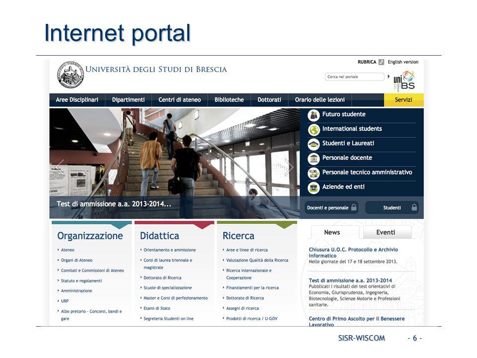 - 6 - SISR-WISCOM Internet portal