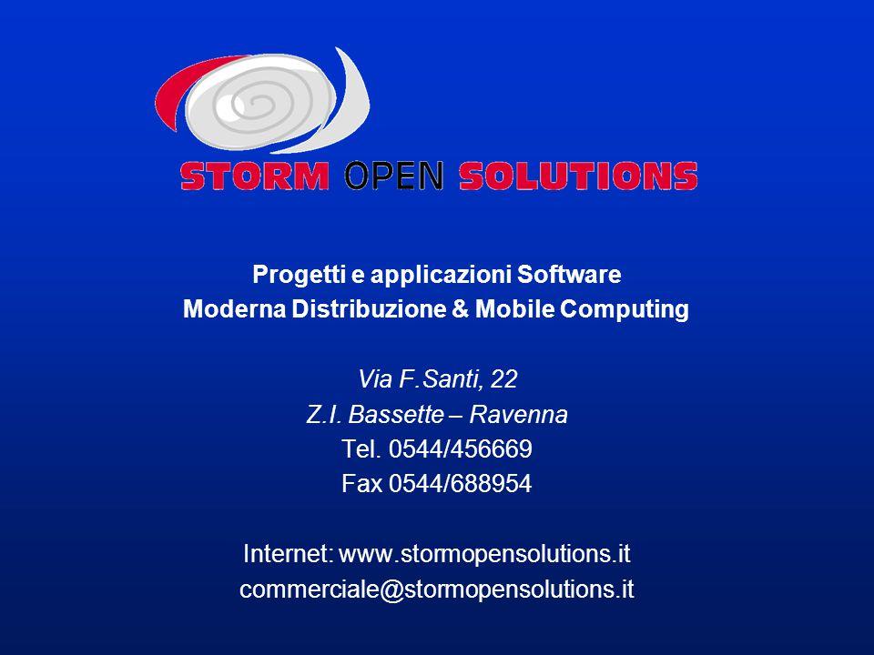 Progetti e applicazioni Software Moderna Distribuzione & Mobile Computing Via F.Santi, 22 Z.I.