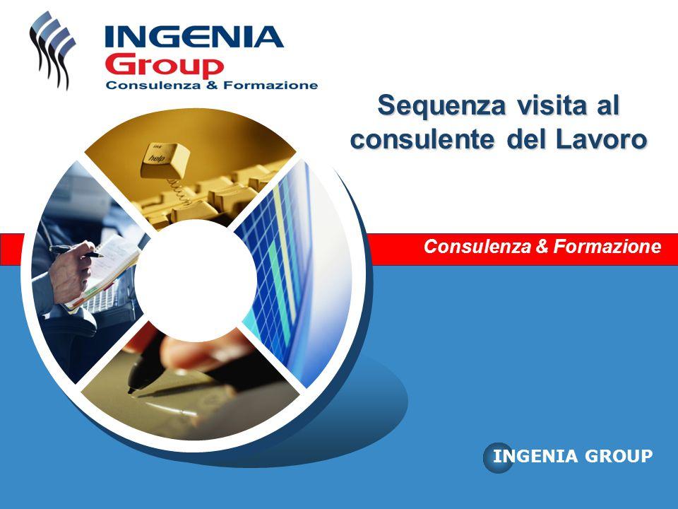 Consulenza & Formazione INGENIA GROUP Sequenza visita al consulente del Lavoro