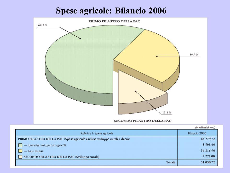 Spese agricole: Bilancio 2006