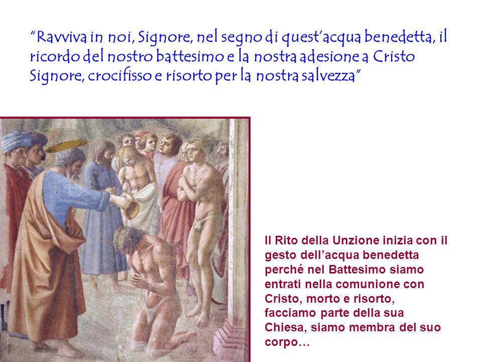 """""""Ravviva in noi, Signore, nel segno di quest'acqua benedetta, il ricordo del nostro battesimo e la nostra adesione a Cristo Signore, crocifisso e riso"""