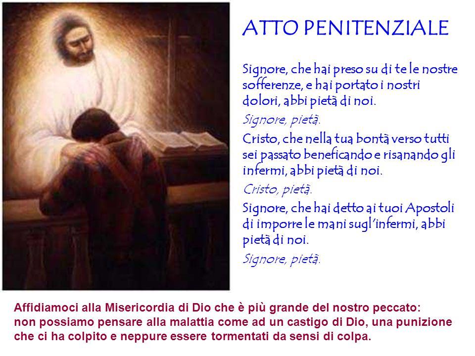 Affidiamoci alla Misericordia di Dio che è più grande del nostro peccato: non possiamo pensare alla malattia come ad un castigo di Dio, una punizione