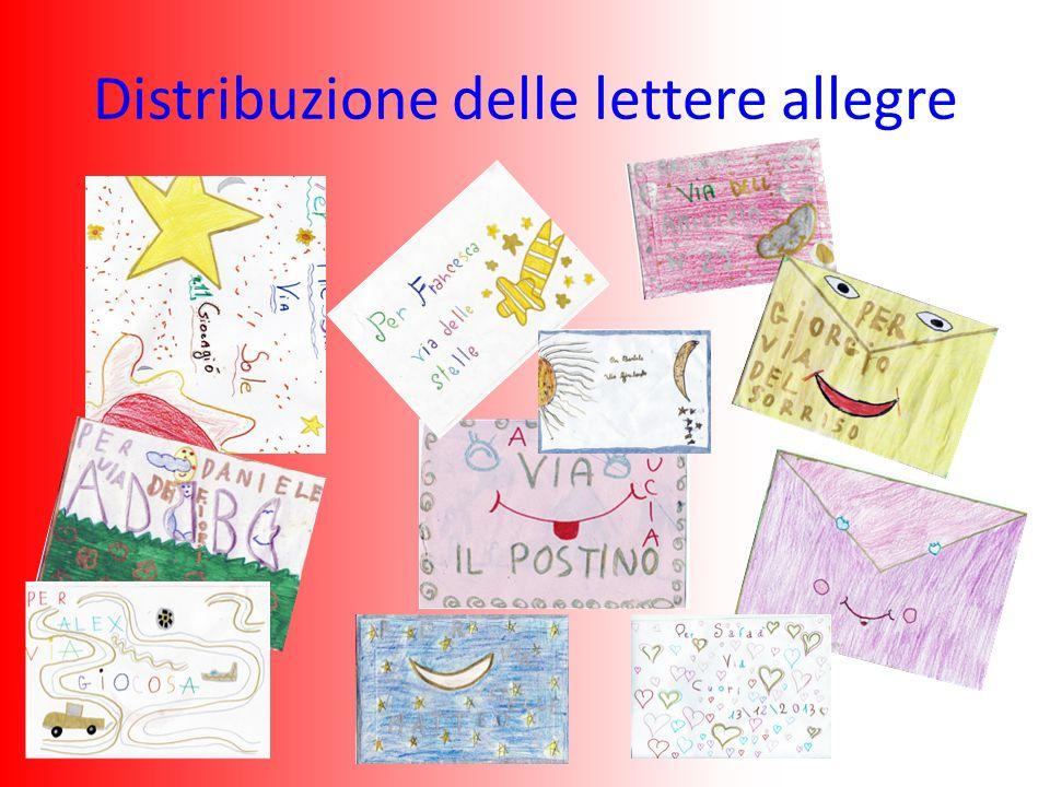Distribuzione delle lettere allegre