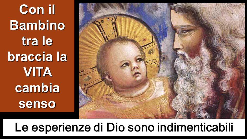 Mosso dallo Spirito, si recò al tempio e, mentre i genitori vi portavano il bambino Gesù per fare ciò che la Legge prescriveva a suo riguardo, anch'eg