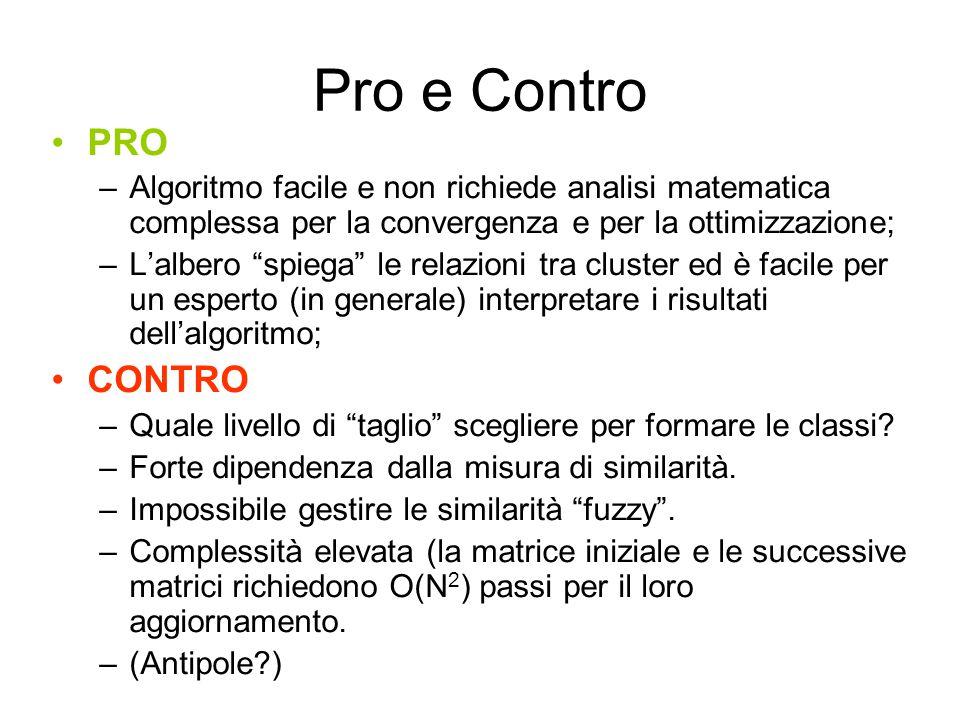 """Pro e Contro PRO –Algoritmo facile e non richiede analisi matematica complessa per la convergenza e per la ottimizzazione; –L'albero """"spiega"""" le relaz"""