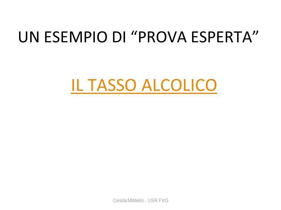 """IL TASSO ALCOLICO Cesira Militello - USR FVG UN ESEMPIO DI """"PROVA ESPERTA"""""""
