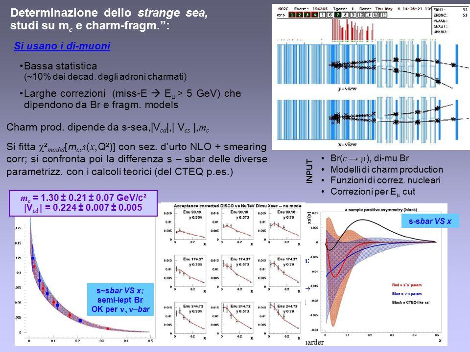 Si usano i di-muoni Bassa statistica (~10% dei decad.