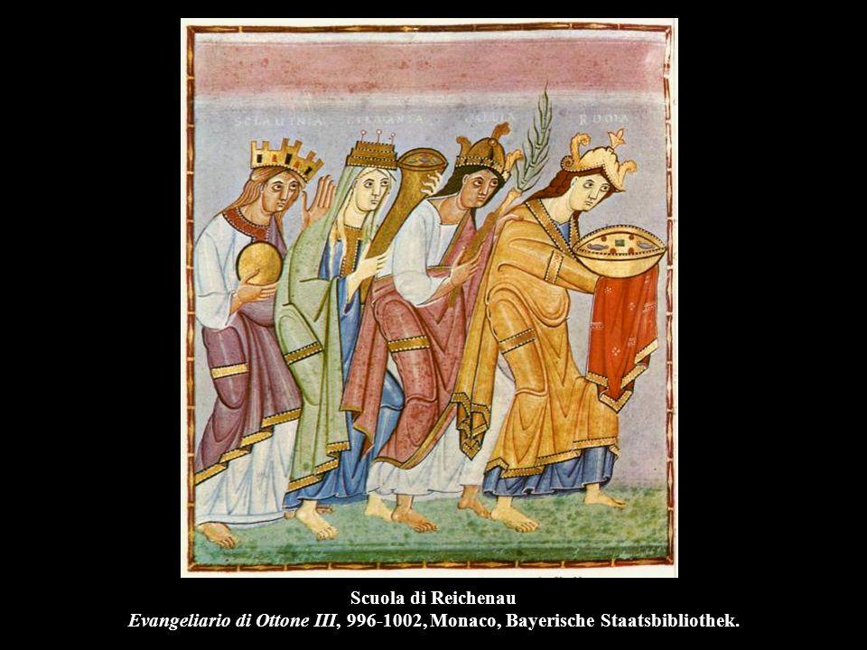 Scuola di Reichenau Evangeliario di Ottone III, 996-1002, Monaco, Bayerische Staatsbibliothek.