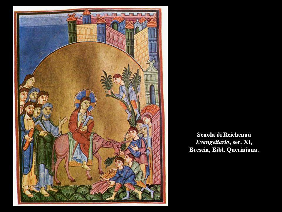 Scuola di Reichenau Evangeliario, sec. XI, Brescia, Bibl. Queriniana.