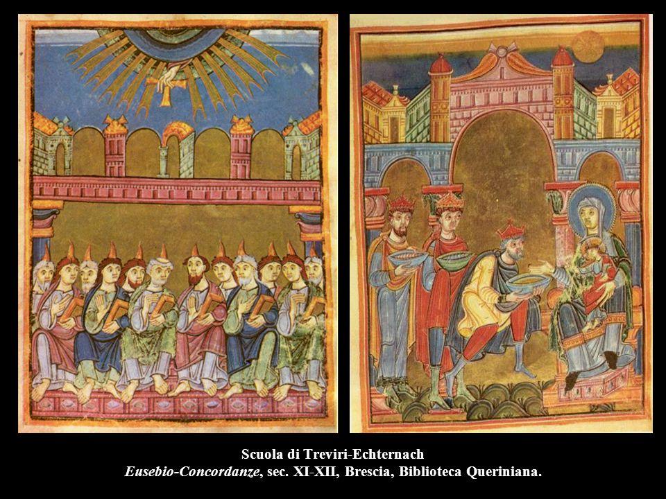 Scuola di Treviri-Echternach Eusebio-Concordanze, sec. XI-XII, Brescia, Biblioteca Queriniana.