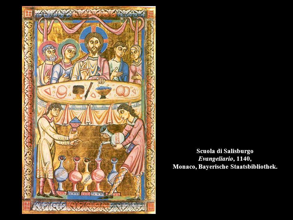 Scuola di Salisburgo Evangeliario, 1140, Monaco, Bayerische Staatsbibliothek.