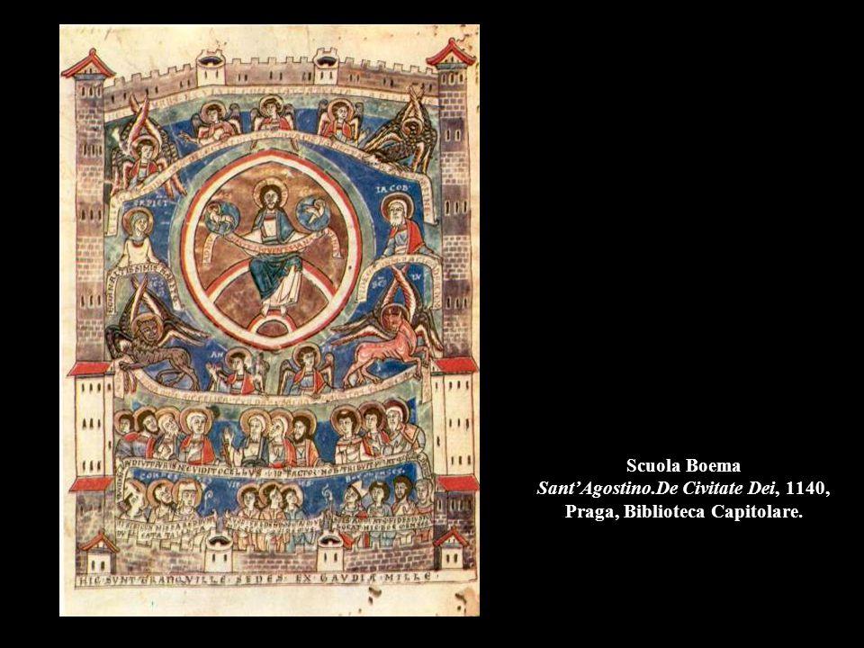 Scuola Boema Sant'Agostino.De Civitate Dei, 1140, Praga, Biblioteca Capitolare.