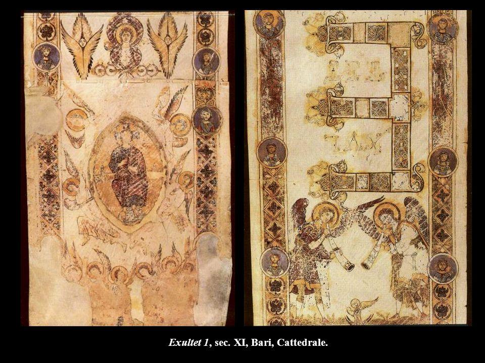 Exultet 1, sec. XI, Bari, Cattedrale.