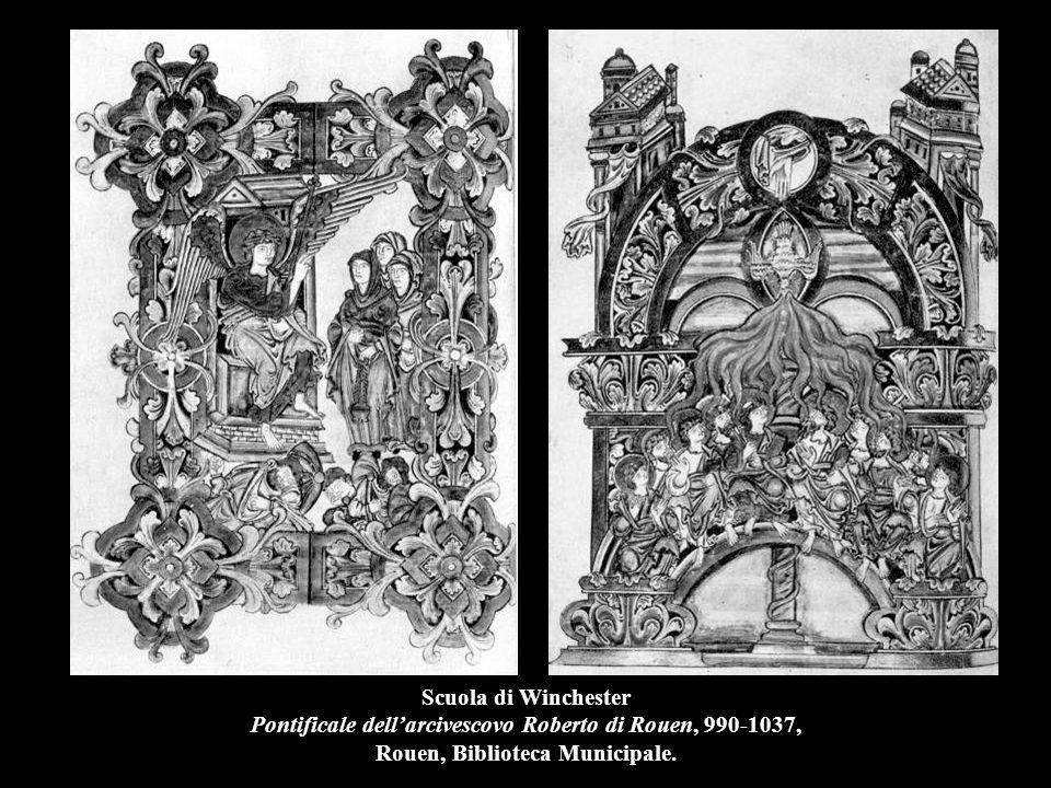 Scuola di Winchester Pontificale dell'arcivescovo Roberto di Rouen, 990-1037, Rouen, Biblioteca Municipale.