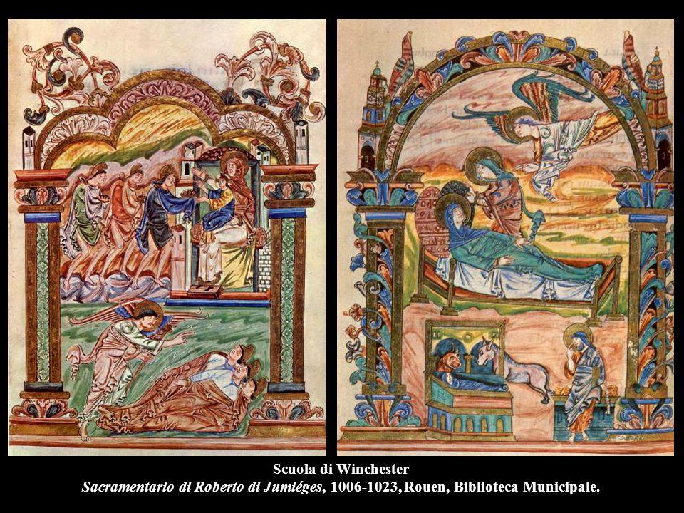 Scuola di Winchester Sacramentario di Roberto di Jumiéges, 1006-1023, Rouen, Biblioteca Municipale.