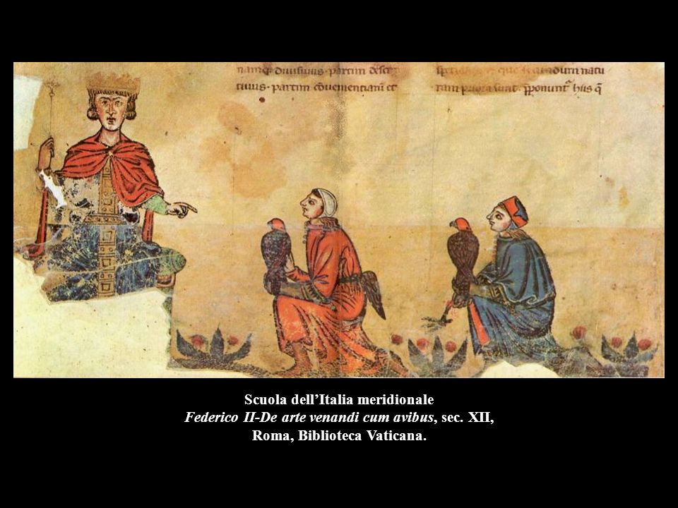 Scuola dell'Italia meridionale Federico II-De arte venandi cum avibus, sec. XII, Roma, Biblioteca Vaticana.