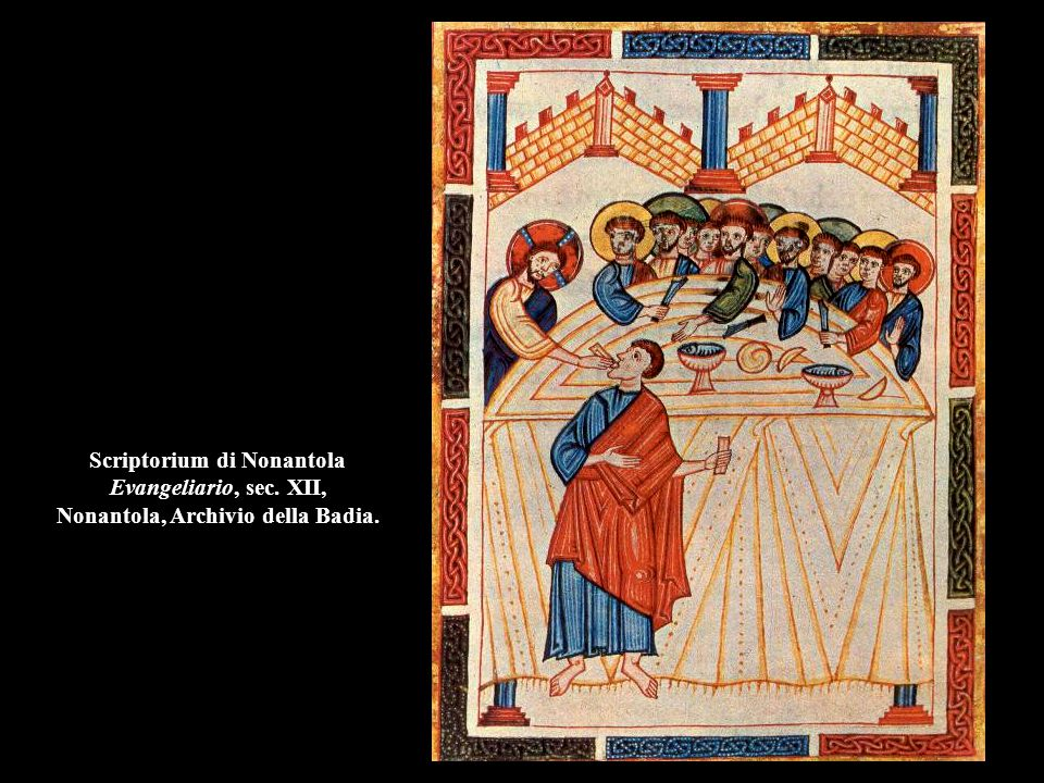 Scriptorium di Nonantola Evangeliario, sec. XII, Nonantola, Archivio della Badia.