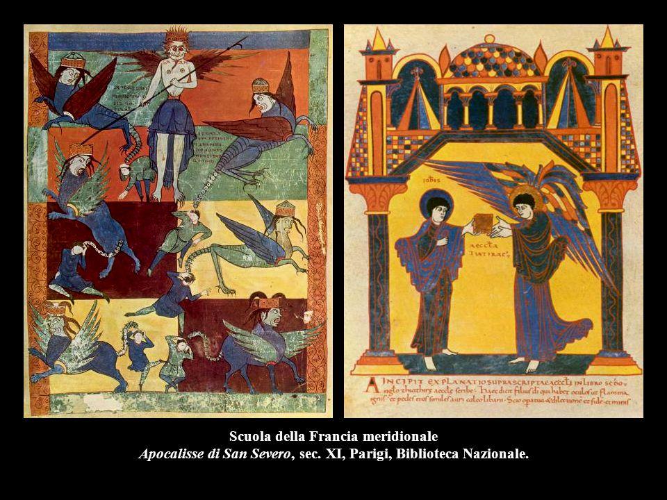 Scuola della Francia meridionale Apocalisse di San Severo, sec. XI, Parigi, Biblioteca Nazionale.