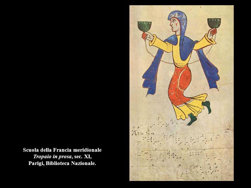 Scuola della Francia meridionale Tropaio in prosa, sec. XI, Parigi, Biblioteca Nazionale.