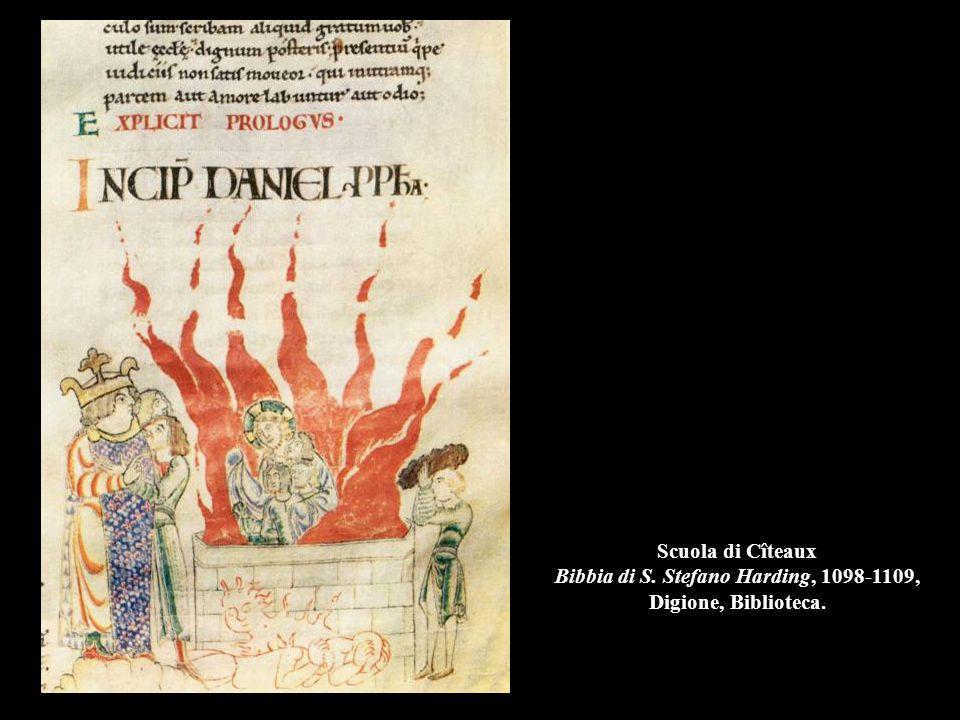 Scuola di Cîteaux Bibbia di S. Stefano Harding, 1098-1109, Digione, Biblioteca.