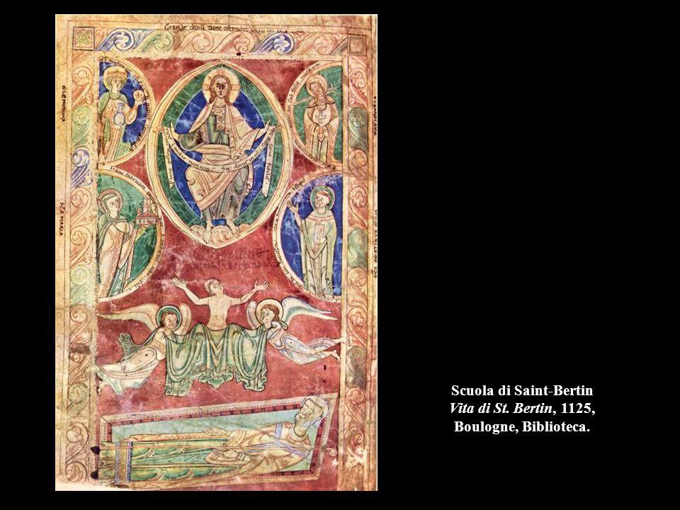 Scuola di Saint-Bertin Vita di St. Bertin, 1125, Boulogne, Biblioteca.