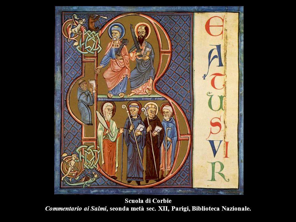 Scuola di Corbie Commentario ai Salmi, seonda metà sec. XII, Parigi, Biblioteca Nazionale.