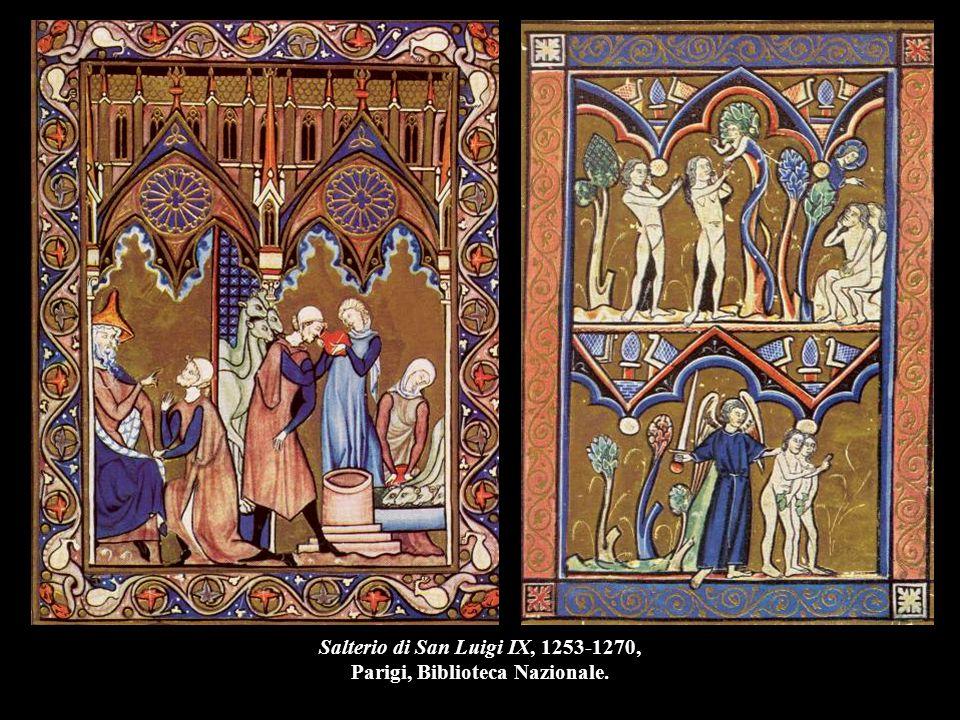 Salterio di San Luigi IX, 1253-1270, Parigi, Biblioteca Nazionale.
