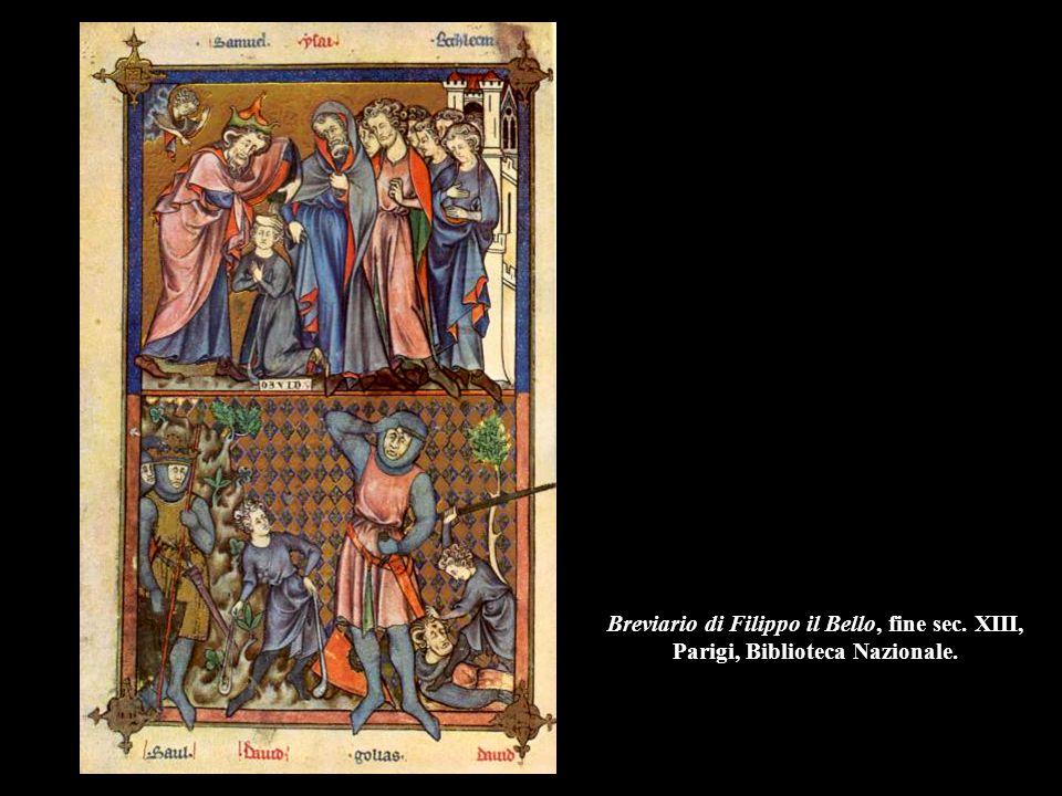 Breviario di Filippo il Bello, fine sec. XIII, Parigi, Biblioteca Nazionale.