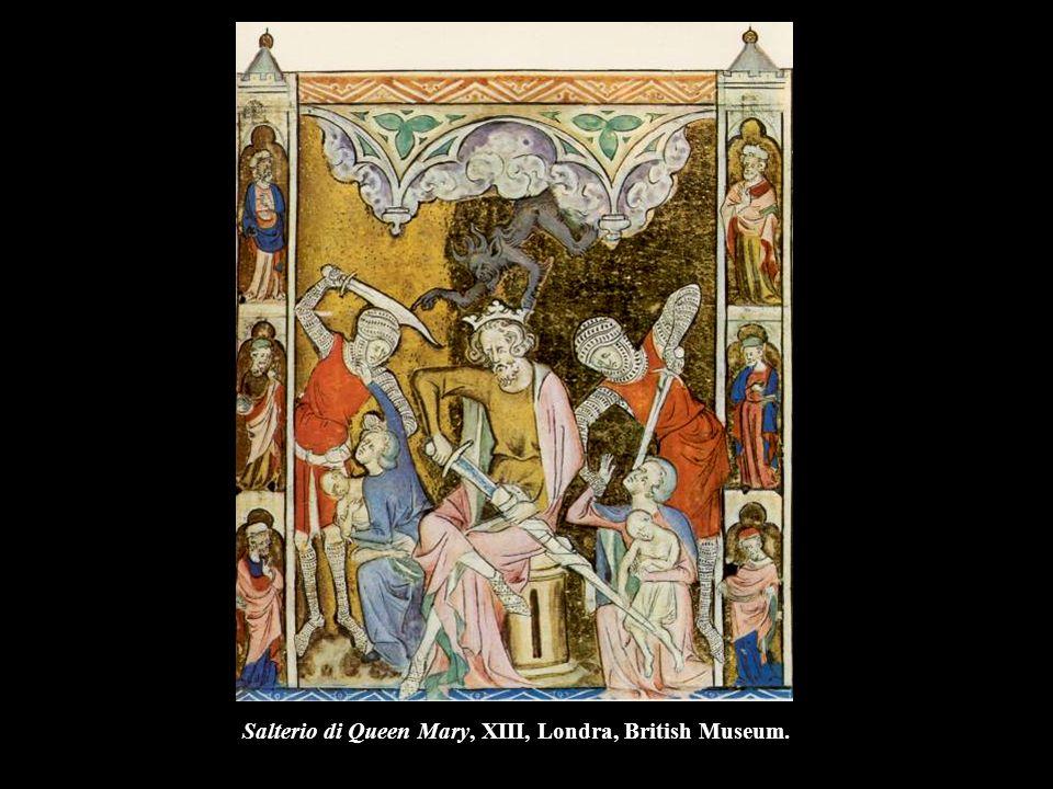 Salterio di Queen Mary, XIII, Londra, British Museum.