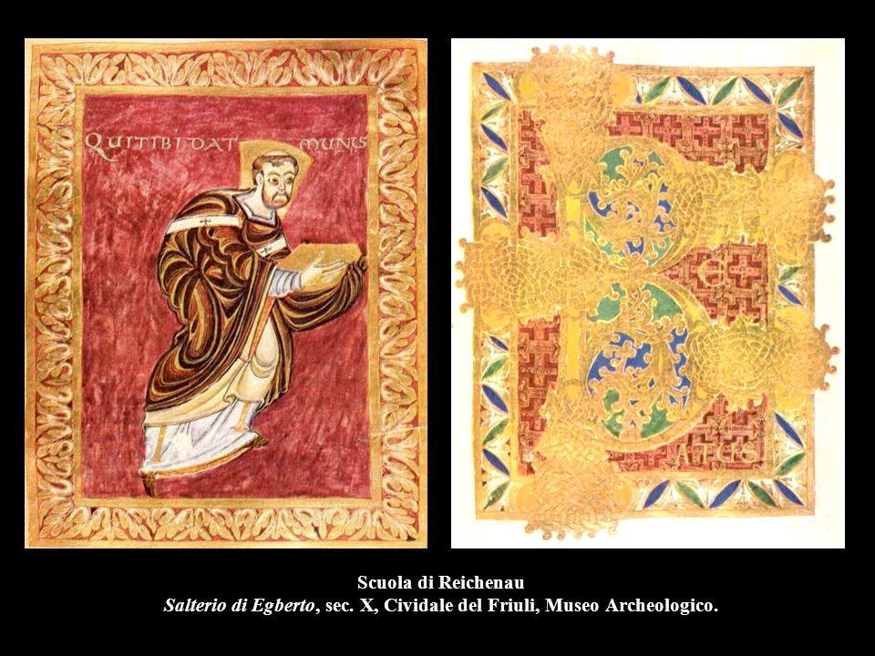 Scuola di Reichenau Salterio di Egberto, sec. X, Cividale del Friuli, Museo Archeologico.
