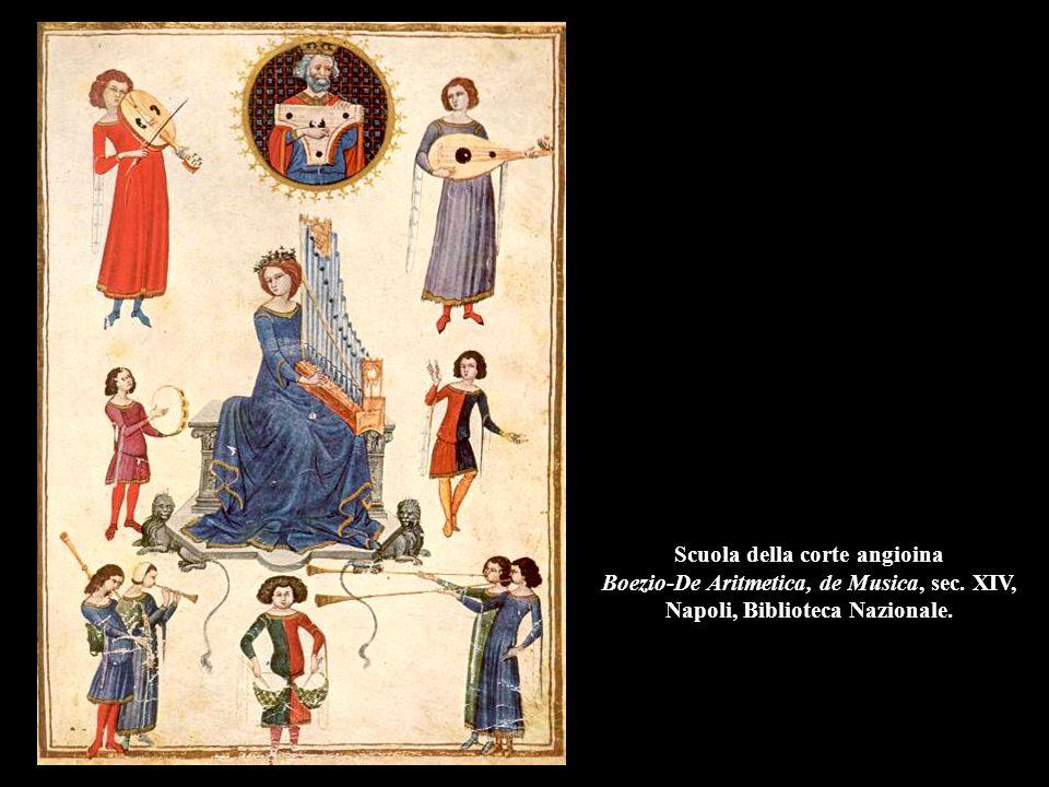 Scuola della corte angioina Boezio-De Aritmetica, de Musica, sec. XIV, Napoli, Biblioteca Nazionale.