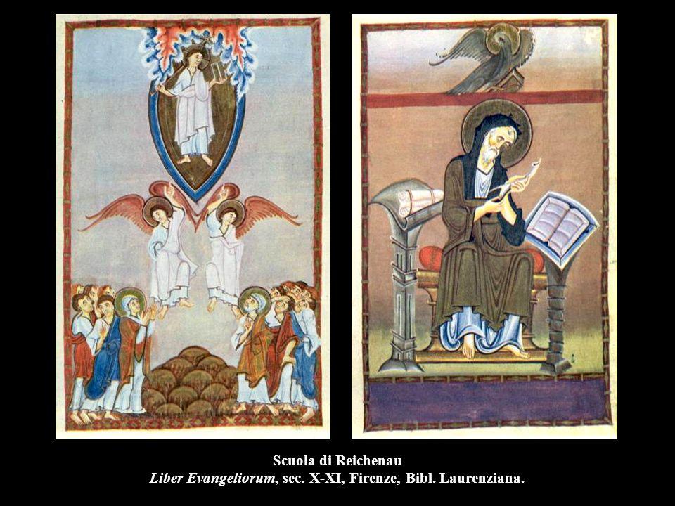 Scuola di Reichenau Liber Evangeliorum, sec. X-XI, Firenze, Bibl. Laurenziana.