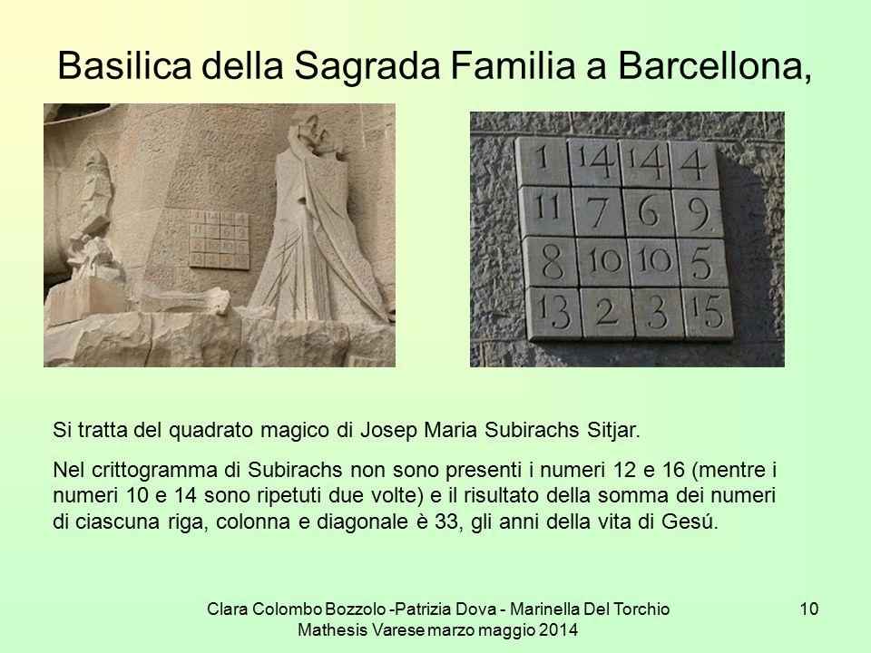 Clara Colombo Bozzolo -Patrizia Dova - Marinella Del Torchio Mathesis Varese marzo maggio 2014 10 Basilica della Sagrada Familia a Barcellona, Si trat