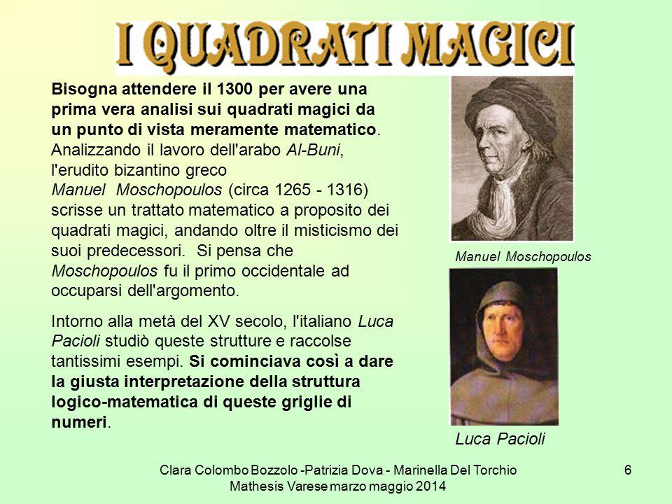 Clara Colombo Bozzolo -Patrizia Dova - Marinella Del Torchio Mathesis Varese marzo maggio 2014 6 Bisogna attendere il 1300 per avere una prima vera an