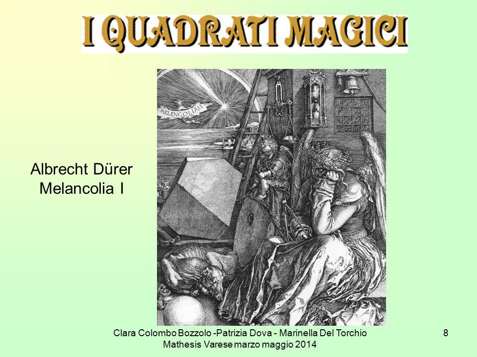 Clara Colombo Bozzolo -Patrizia Dova - Marinella Del Torchio Mathesis Varese marzo maggio 2014 8 Albrecht Dürer Melancolia I