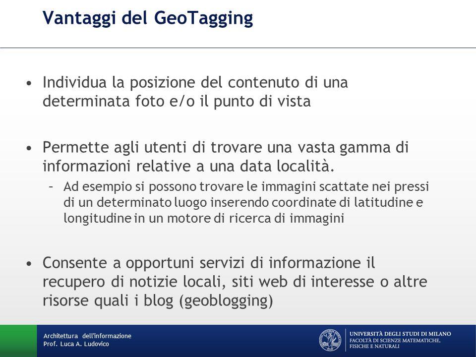 Architettura dell informazione Prof. Luca A.