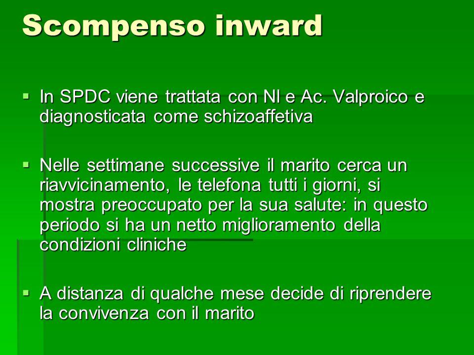 Scompenso inward  In SPDC viene trattata con Nl e Ac.