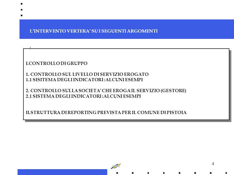 4 I.CONTROLLO DI GRUPPO 1.