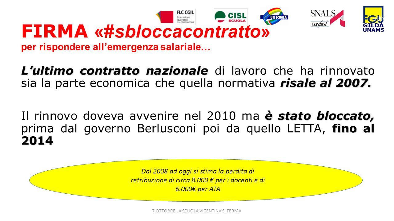 FIRMA «#sbloccacontratto» per rispondere all'emergenza salariale… L'ultimo contratto nazionale risale al 2007.