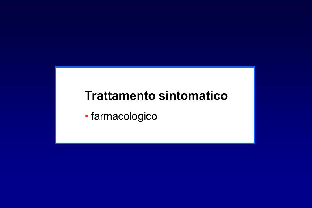 Trattamento sintomatico farmacologico