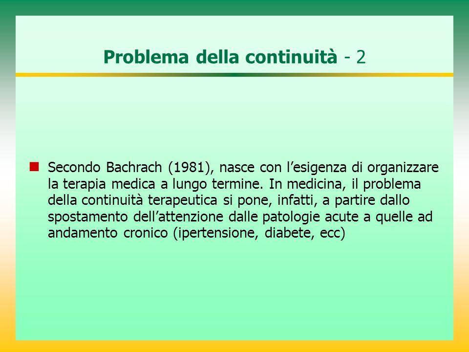 Excursus storico* - 1 Nel campo della psichiatria l'esistenza stessa dell'istituzione manicomiale ometteva il problema della continuità a vantaggio della spersonazione psicotica e sua ratifica manicomiale .