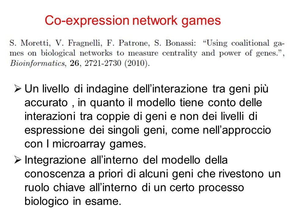  Un livello di indagine dell'interazione tra geni più accurato, in quanto il modello tiene conto delle interazioni tra coppie di geni e non dei livel