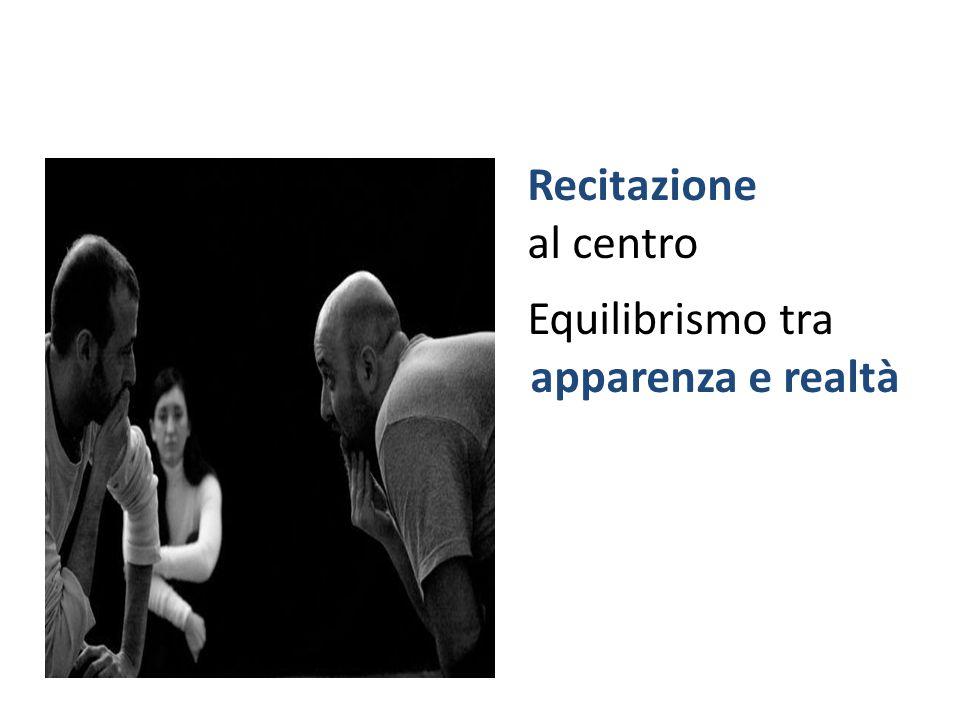 Recitazione al centro Equilibrismo tra apparenza e realtà