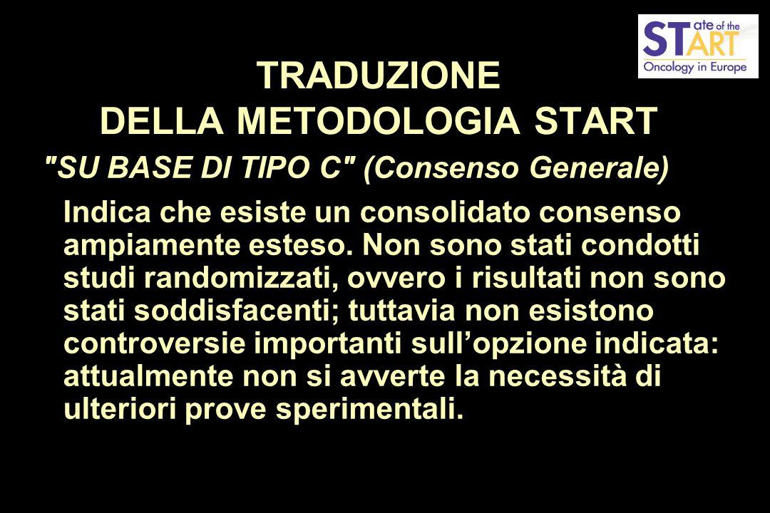 TRADUZIONE DELLA METODOLOGIA START SU BASE DI TIPO C (Consenso Generale) Indica che esiste un consolidato consenso ampiamente esteso.